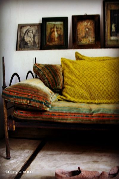 Take a look at www.bringingitallbackhome.co.uk for exotic textiles and carved Indian furniture