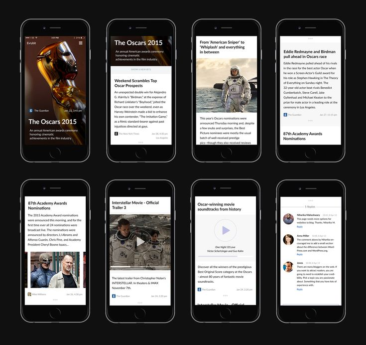 News Live Feed - Mobile Layout