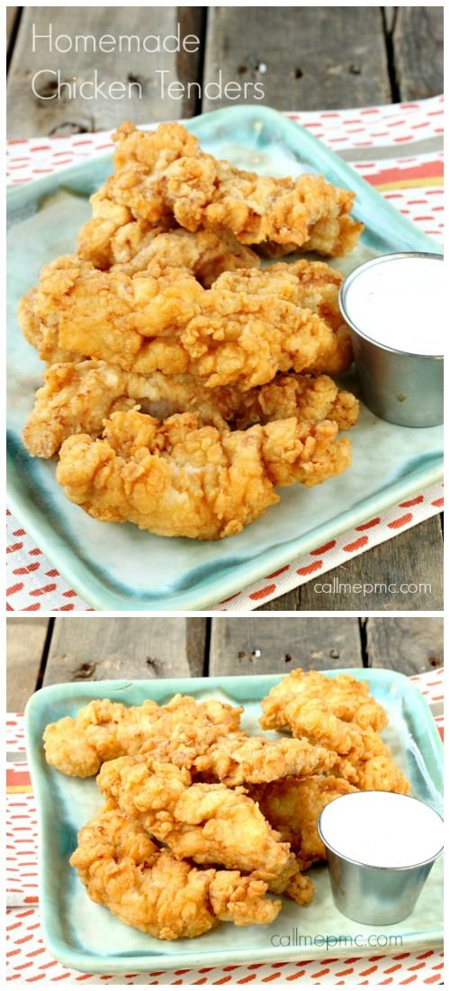 Crispy, crunchy outside with a tender inside Homemade Fried Chicken Tenders are always a hit!