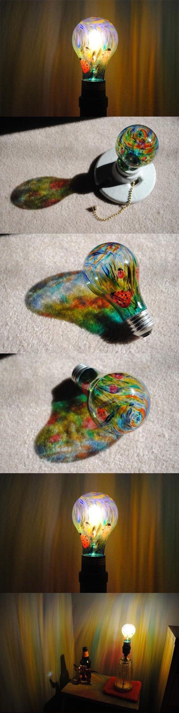 163 best Light Bulbs Art images on Pinterest | Lightbulb ornaments ... for Painted Light Bulb Art  59nar