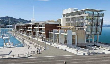 Apartments on the old Overseas Passenger Terminal building in Wellington.  http://architecturehdt.co.nz/