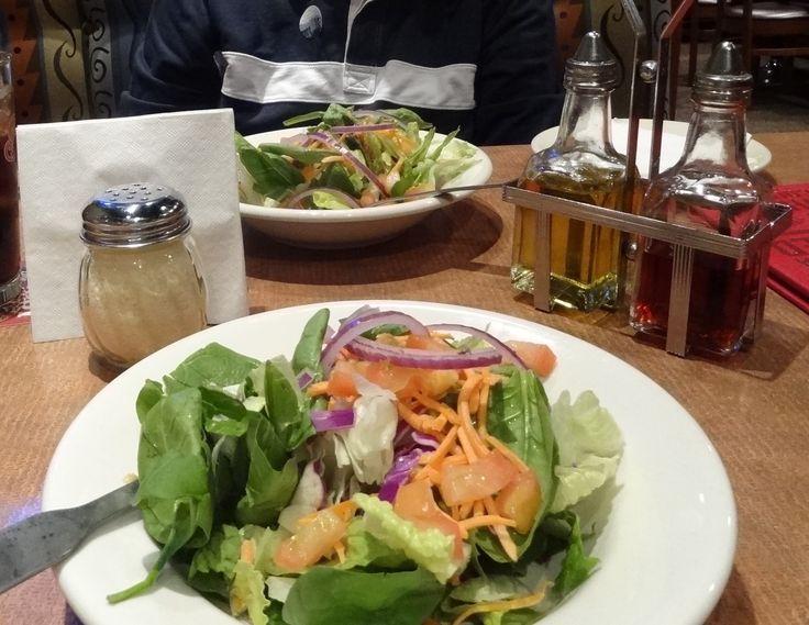 Boston Pizza, great salad in Little Rock, Arkansas, near Clinton National Airport.  Yummy good and fresh!!