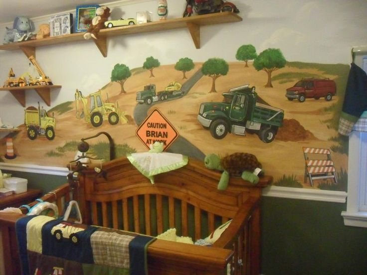 A Project For:BrianAge:Newborn Location:Midland Park, NJ Description:A construction themed room that wasn't too childish so that it could be enjoyed when my son was older too. I incorporated some of my Father's trucks from his business to make it mo...