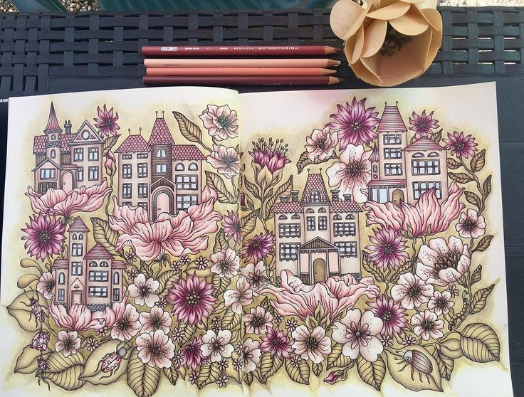 "45 Likes, 8 Comments - Crisocione (@crisocione) on Instagram: ""Done! 😅😅 #hannakarlzon #daydreams #dagdrömmar #coloring #coloringbook #mycreativeescape…"""