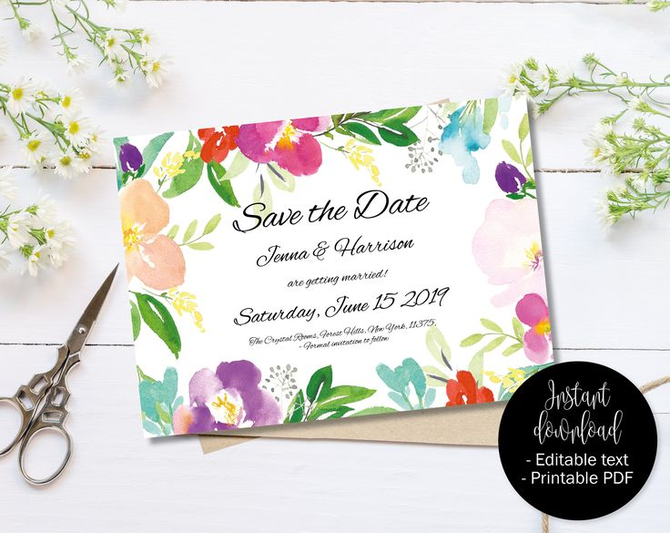 Best Wedding Save The Date Templates To Instantly Download And