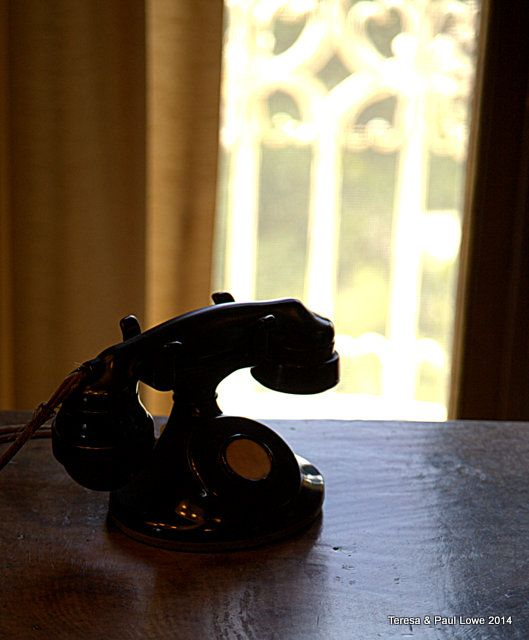 An antique phone that was top of the line during the time