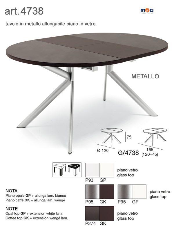 Tavoli in metallo piano in vetro tondo tavoli metallo allungabili rotondi