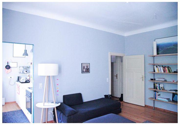 Hellblaues Zimmer in der Postdamer Innenstadt zur Zwischenmiete
