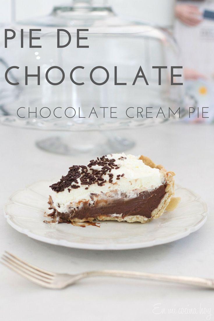 Pie de chocolate - En mi cocina hoy