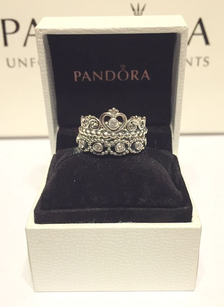 W Tag Authentic Pandora Stacking Rings My Princess Ring Hermajesty Ring | eBay
