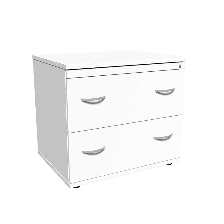 White 2 Drawer Side Filer Suitable For Foolscap Files