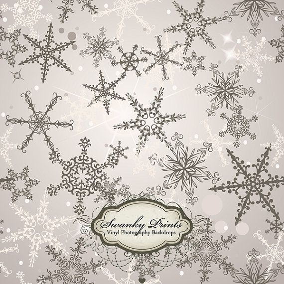Silver Snowflakes - Oz Backdrops and Props