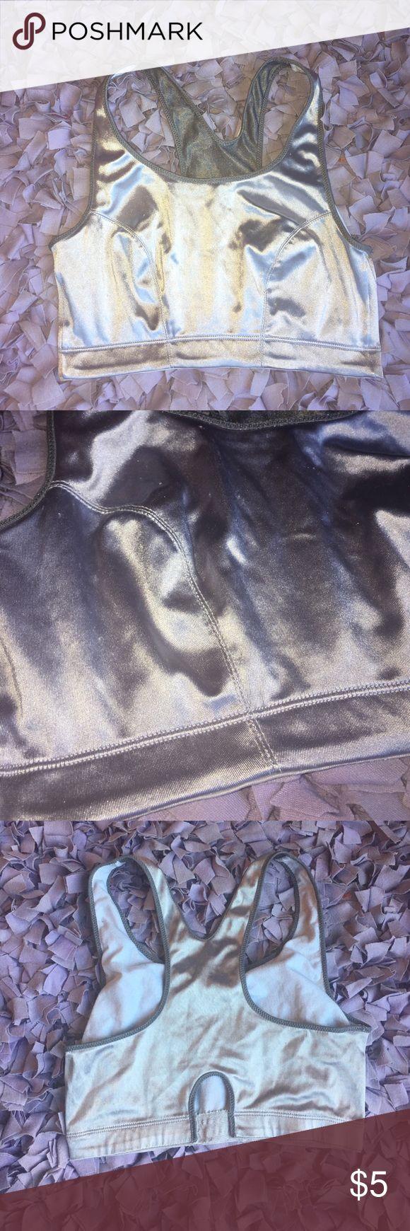 VS metallic sports bra Metallic silver soft sorts bra. Victoria's Secret Intimates & Sleepwear Bras