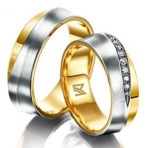 cincin perak couple murah lapis emas, cincin palladium