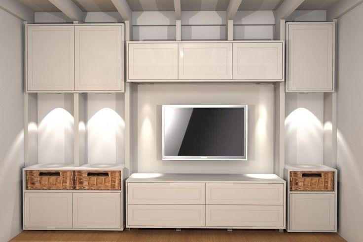 Ontwerp landelijke TV meubel