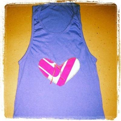 corazon pelionera azul
