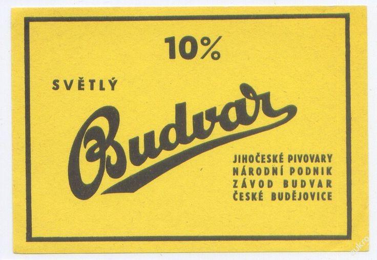 PEMD 1 ks stará etiketa BUDVAR SVĚTLÝ 10% (6395938555) - Aukro - největší obchodní portál