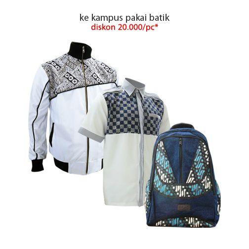 Back to School Promo! Diskon 20.000/pc untuk pelajar & mahasiswa s.d 31 Agustus 2014  #jaketbatikmedogh #kemejabatikmedogh #tasbatikmedogh  http://medogh.com/baju-batik-pria/kemeja-batik-pria
