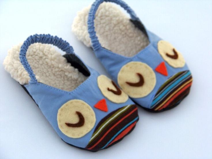 Owls & Chicks Kids Slipper PDF Sewing Pattern.  Children Sewing Pattern. Toddler Girl Boy Sewing Pattern. $5.50, via Etsy.