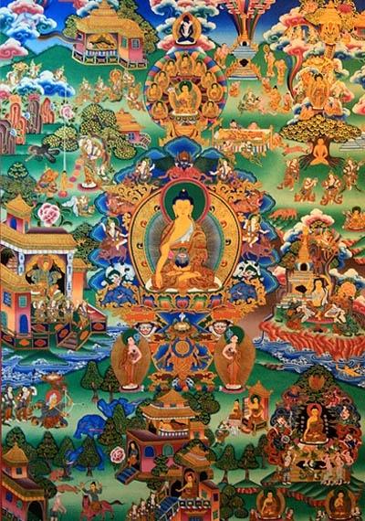 Sakyamuni Buddha Tibetan Thangka  #Tibetan # Thangka