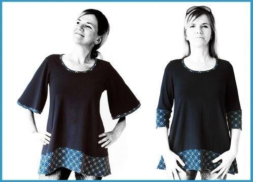 Shirt A-Linie Schnittmuster und Nähanleitung - Nähanleitungen bei Makerist