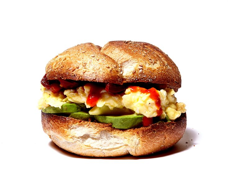 Meat-free but not too virtuous, this breakfast sandwich is healthy and satisfying.