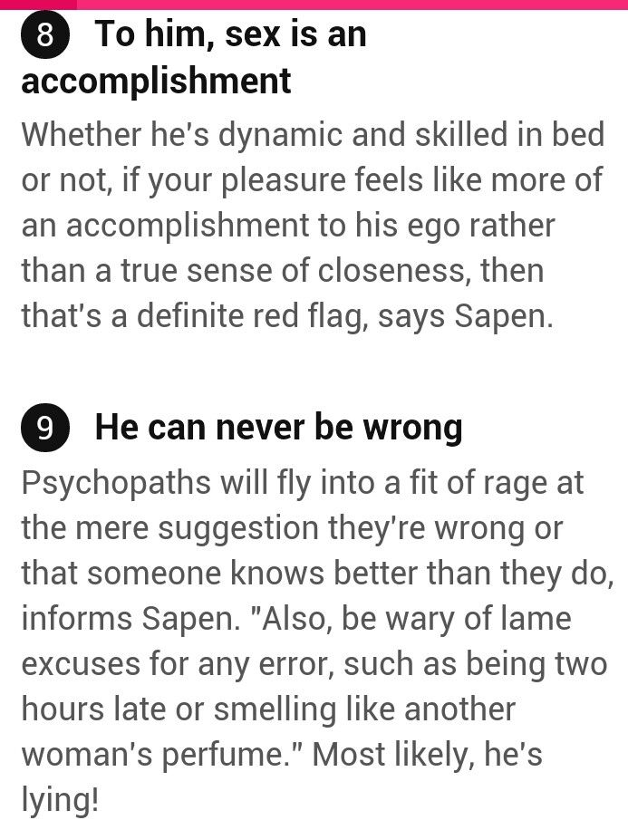 Signs dating psychopath