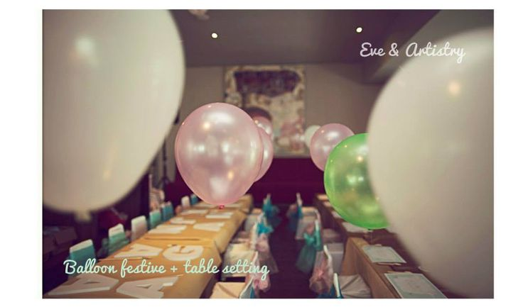 Balloons to make your party more festive :) by Eve & Artistry.