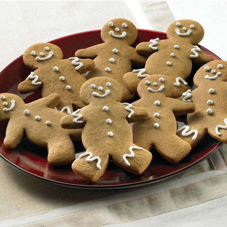 These Gingerbread Men Cookies are as cute as can be. If desired, decorate with raisins, currants or cinnamon red hot candies for eyes and buttons. Or, pipe untinted or Colorful Royal Icing onto cookies.