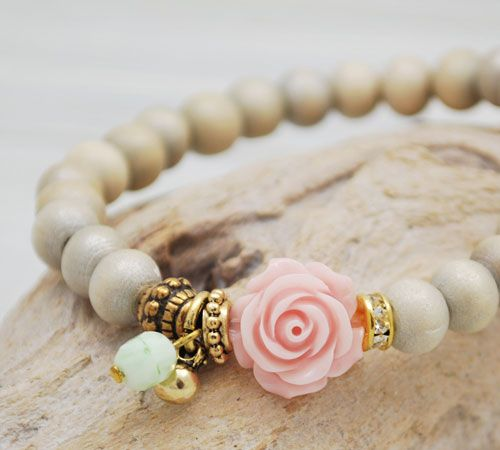 Armbandje 'Sweet Rose'
