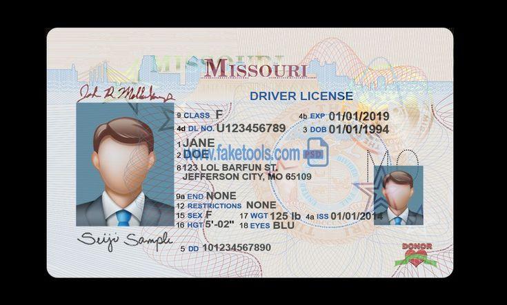 Montana Drivers License Template