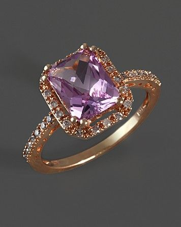 Pink Amethyst & Diamond Cocktail Ring in 14K Rose Gold - Rings - Shop by Style - Fine Jewelry - Bloomingdale's