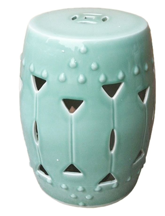 Very pretty carved triangle round stool with celadon glaze. Free shipping!  sc 1 st  Pinterest & 360 best Ceramic Garden Stools images on Pinterest | Ceramic ... islam-shia.org