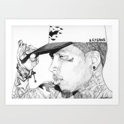 Kid Ink  Art Print by DeMoose_Art - $20.00 Free Worldwide Shipping Over $75