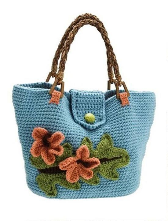 Beautiful crochet bag ? CROCHET BOLSOS Y CARTERAS Pinterest