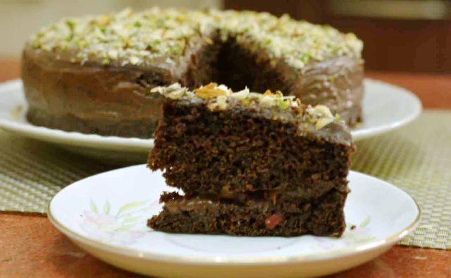 Fat Free Chocolate Cake / How to make fatfree, eggfree chocolate cake