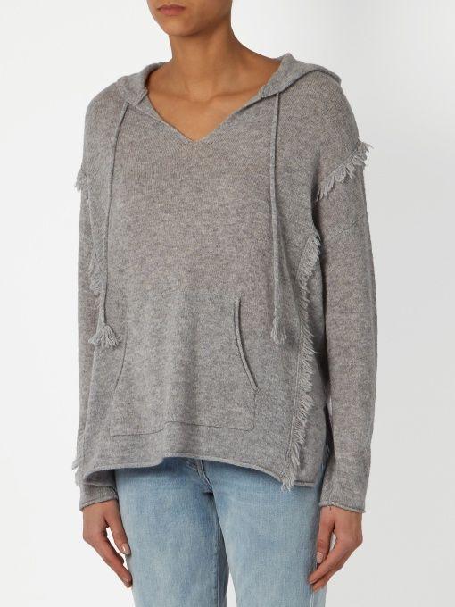 Velvet By Graham & Spencer Jacqueline hooded cashmere top