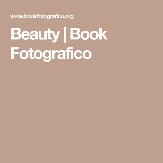 Beauty | Book Fotografico