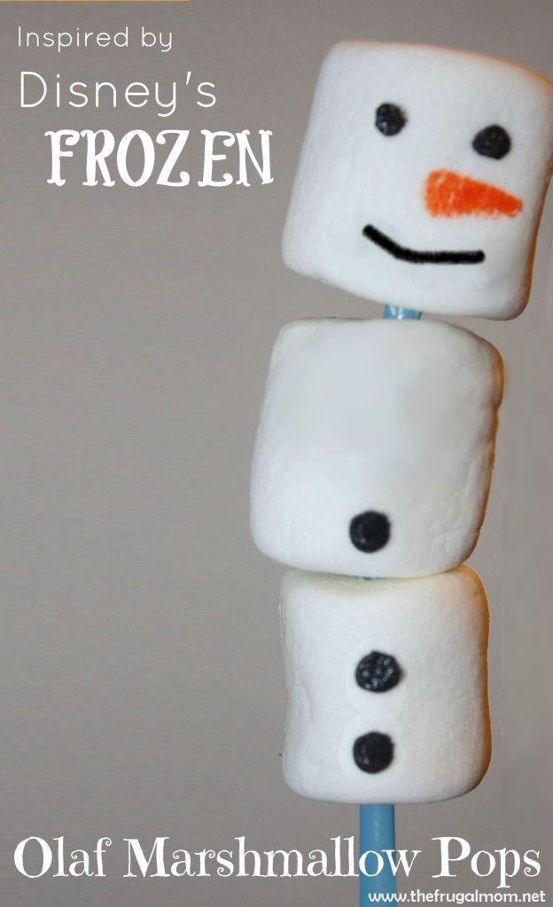 Disney's Frozen Olaf Marshmallow Pops #DisneyFrozen
