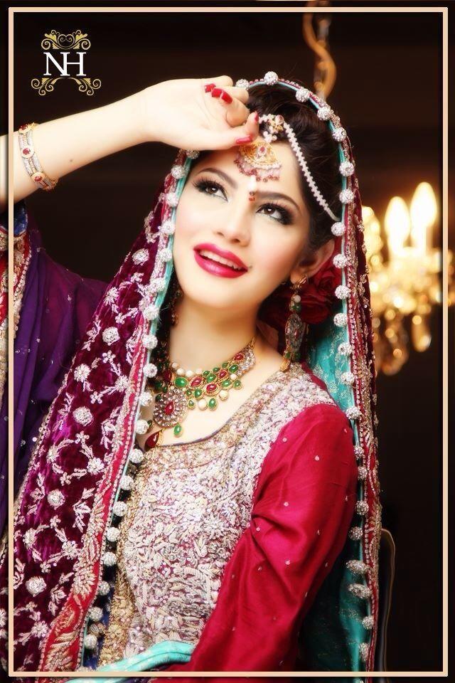 Neelam for Nadia Hussain Salon. Wedding look.