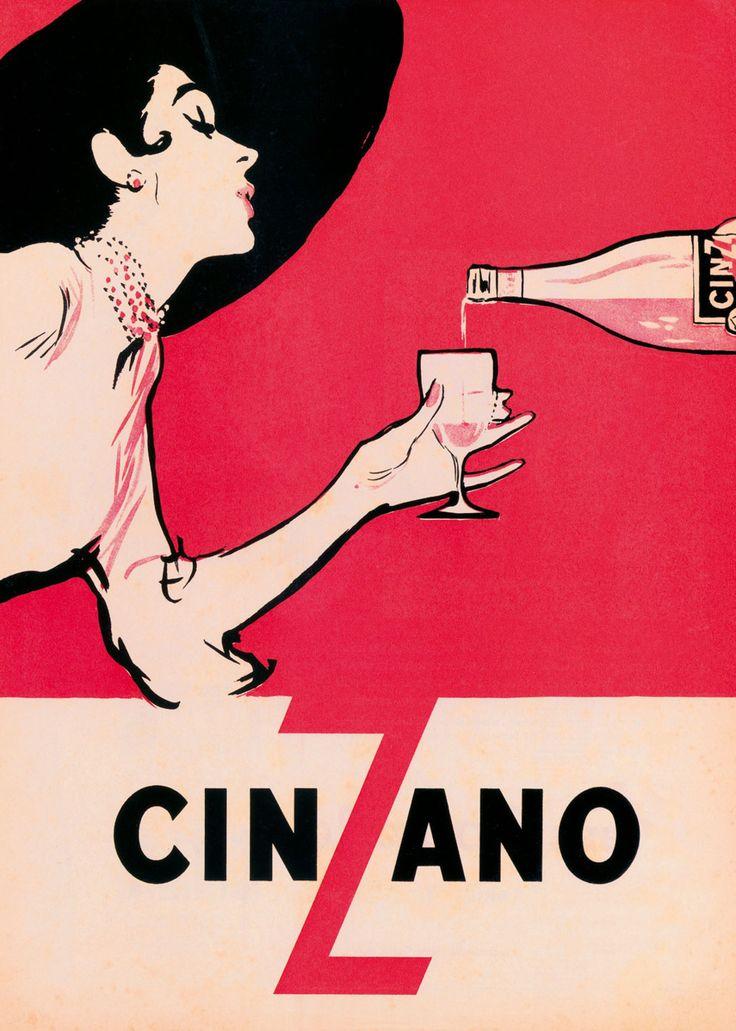 publicité Cinzano par René Gruau, 1954