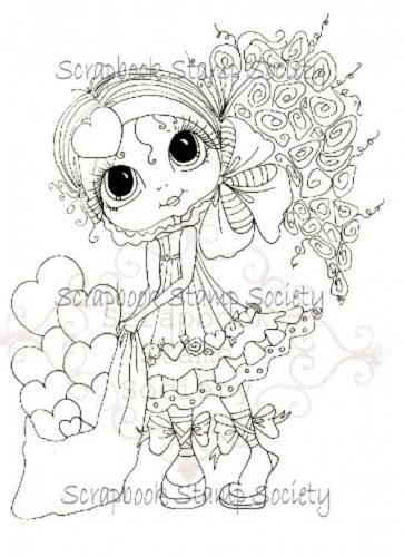Violet Valentine Besties digi stamp by  Sherri Baldy