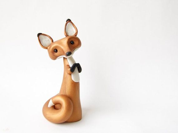 OMG LOVE!!!!!!!!!Red Fox Figurine by Bonjour Poupette