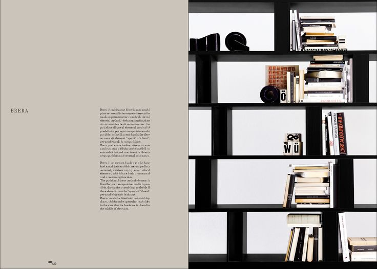 Brera Is An Elegant Bookcase With Long Horizontal Shelves Which Are Stopped  In A Seemingly Random