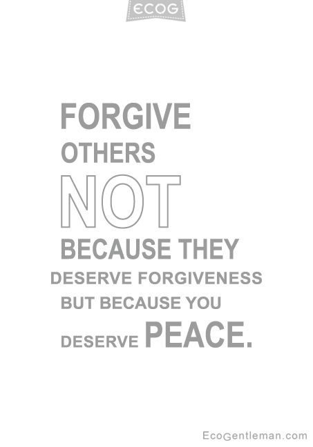 You deserve that your mind no longer induces the same thoughts of when they hurt you over and over again. Thus, to forgive them is to forgive yourself. As it might well be that unconsciously you've judged yourself guilty of what they did to you. You never were.
