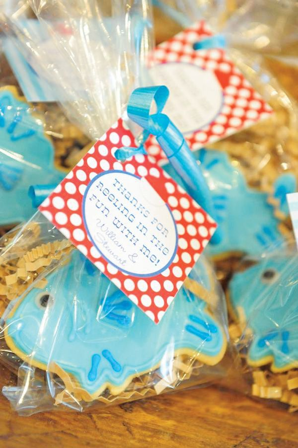 55 best images about fishing cookies on pinterest dads for Fishing party favors