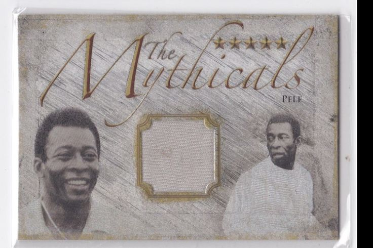 2014 Futera Unique  #MYTH01 Pele Mythicals 8/10 Brazil Jersey Unused Code Soccer card sells at auction for $700.00