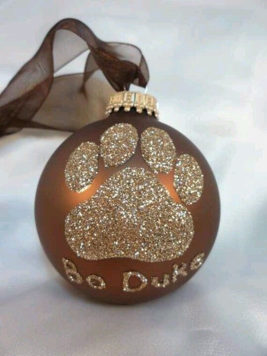 Christmas ornament - Could do something like this for Lucky