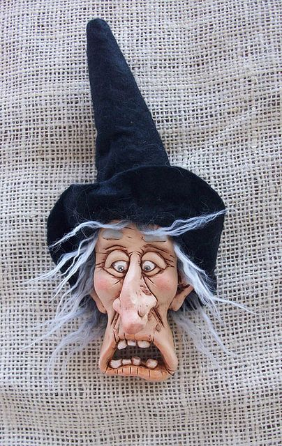 """La strega"", via Flickr. DO IN FONDANT FOR CAKE TOPPER"