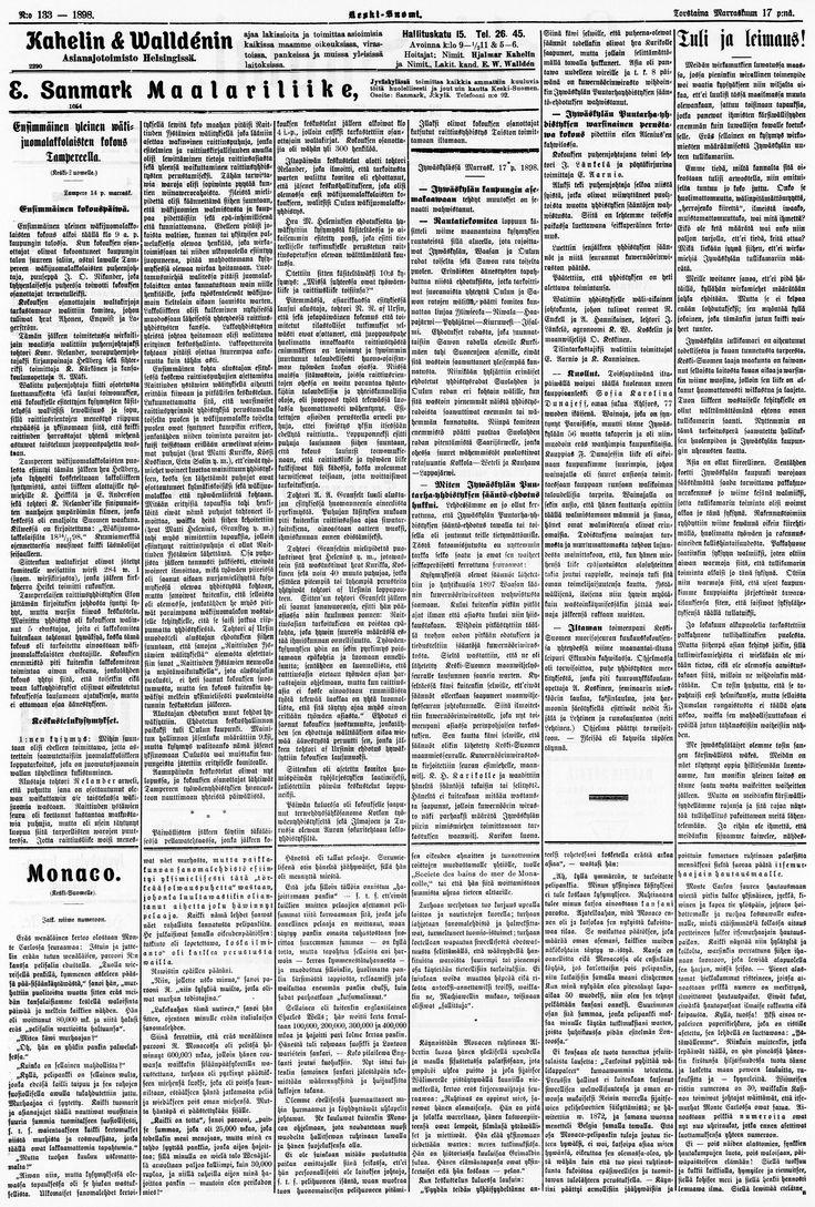 17.11.1898 Keski-Suomi no 133 - Sanomalehdet - Digitoidut aineistot - Kansalliskirjasto